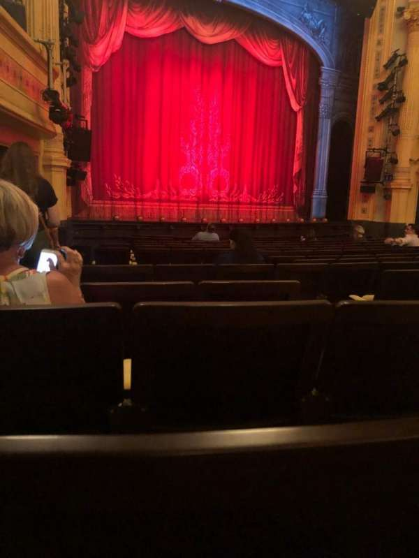 Hudson Theatre, section: Orch, row: P, seat: 7