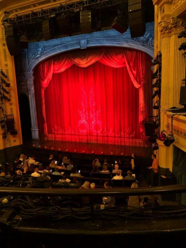 Hudson Theatre, section: Dress, row: B, seat: 6