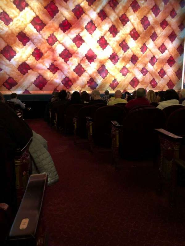 Brooks Atkinson Theatre, section: Orchestra L, row: J, seat: 1