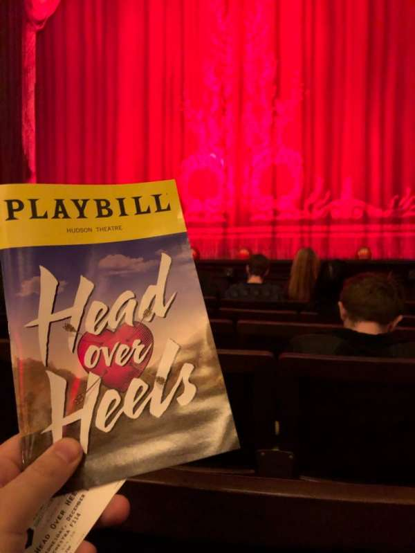 Hudson Theatre, section: Orch, row: F, seat: 115
