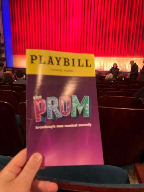 Longacre Theatre, section: Orchestra C, row: N, seat: 105