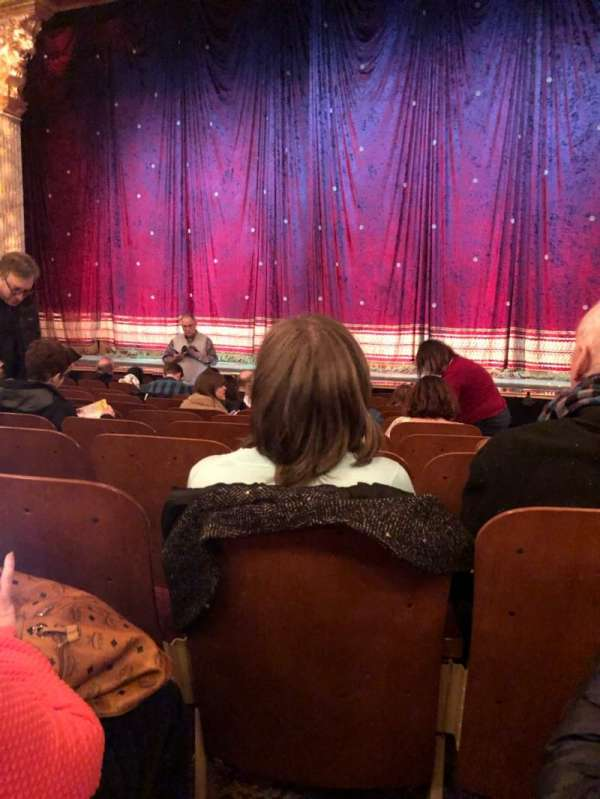 Booth Theatre, section: Orch, row: J, seat: 118