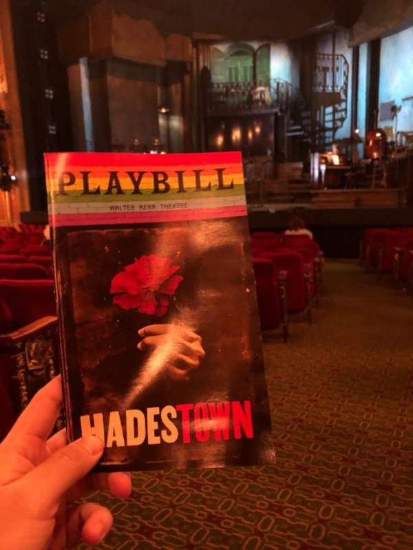 Walter Kerr Theatre, section: Orchestra R, row: P, seat: 2