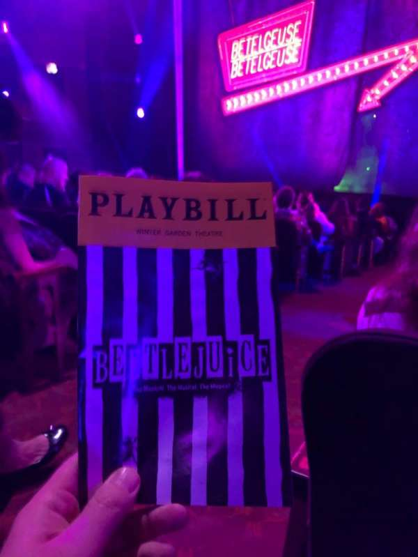 Winter Garden Theatre, section: Orchestra R, row: N, seat: 2