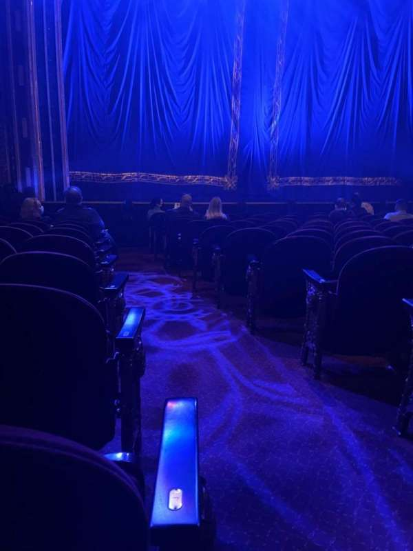 Brooks Atkinson Theatre, section: Orchestra L, row: K, seat: 1