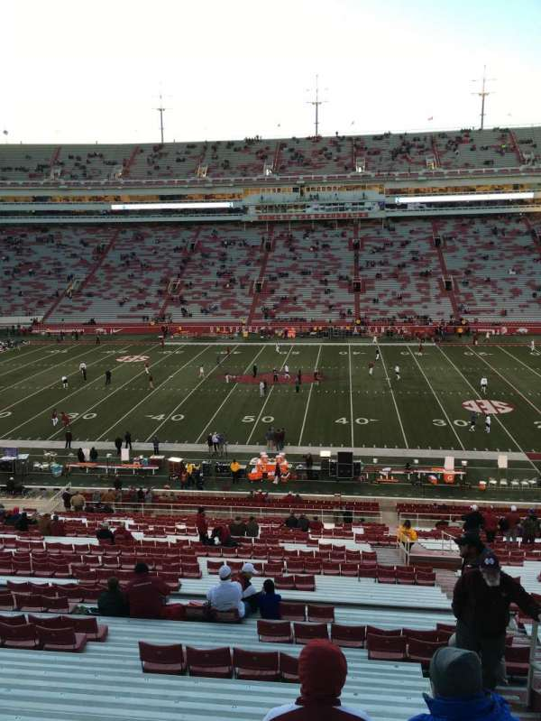 Razorback Stadium, section: 114, row: 47, seat: 38