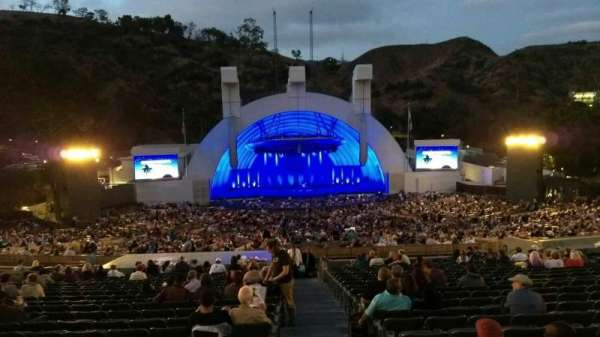 Hollywood Bowl, section: H, row: 21, seat: 117