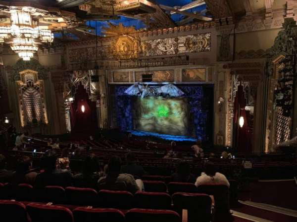 Hollywood Pantages Theatre, section: Mezz Right, row: Q, seat: 24
