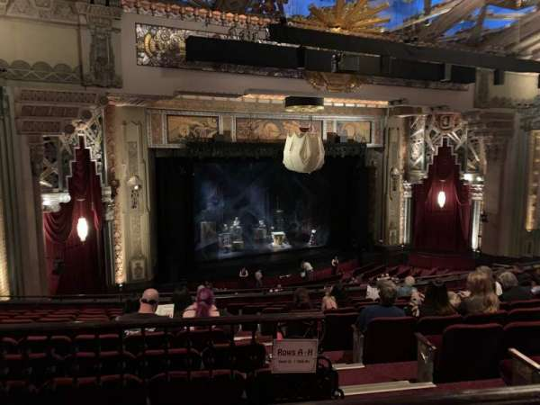 Hollywood Pantages Theatre, section: Mezzanine L, row: J, seat: 5