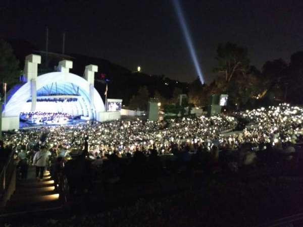 Hollywood Bowl, section: P3, row: 5, seat: 23