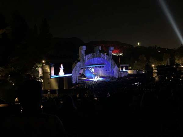 Hollywood Bowl, section: P3, row: 7, seat: 37