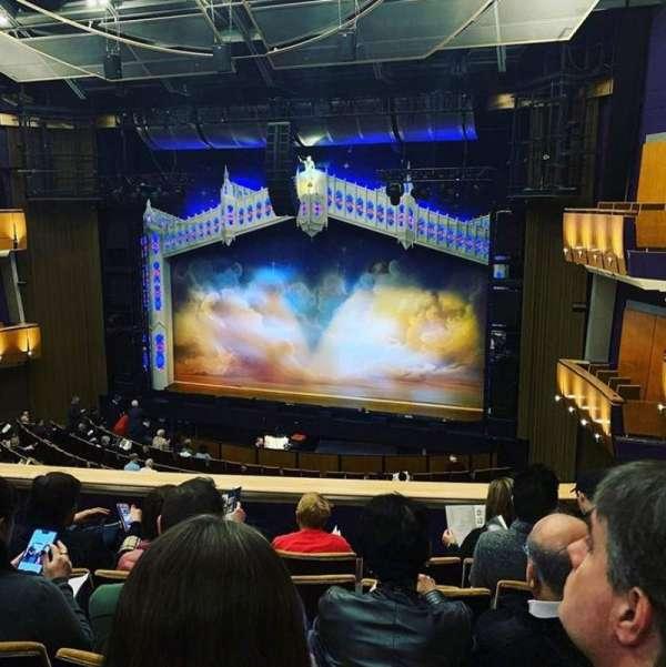 Ahmanson Theatre, section: Mezzanine, row: E, seat: 13