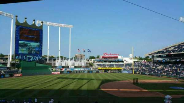 Kauffman Stadium, section: 217, row: Ll, seat: 5