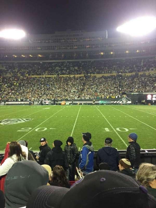Folsom Field, section: 108, row: 14, seat: 8