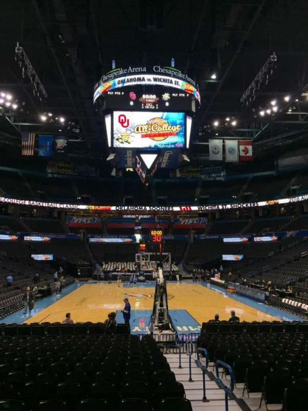 Chesapeake Energy Arena, section: 101, row: RR, seat: 2