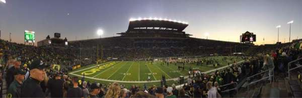 Autzen Stadium, section: 14, row: 21, seat: 7