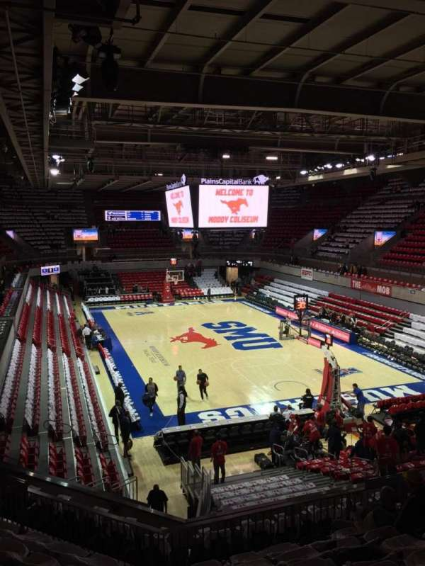 Moody Coliseum, section: 201, row: 8, seat: 11