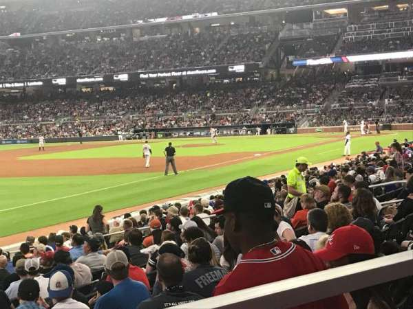 SunTrust Park, section: 140, row: 1, seat: 7