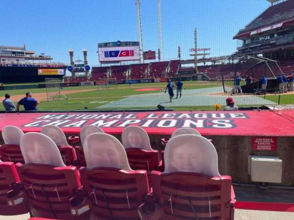 Great American Ball Park, section: 118, row: I, seat: 1