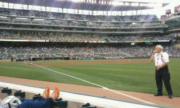 Target Field, section: 103, row:  2, seat:  1