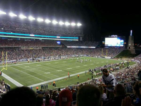 Gillette Stadium, section: 215, row: 14, seat: 12