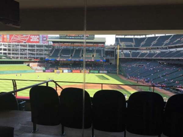 Globe Life Park in Arlington, section: Ty Cobb Suite 111B, row: B, seat: 14