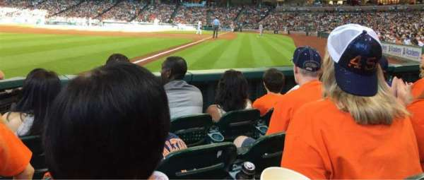 Minute Maid Park, section: 106, row: 4, seat: 3