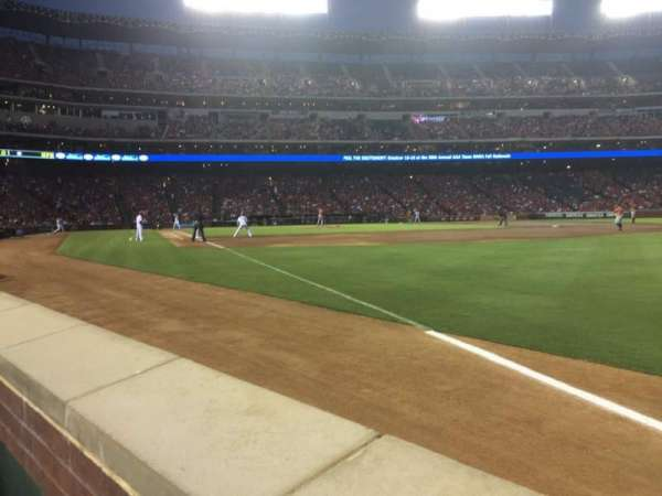 Globe Life Park in Arlington, section: 39, row: 1, seat: 1