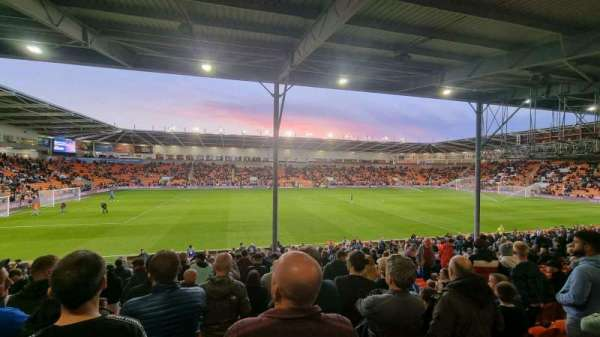 Bloomfield Road, section: EF, row: V, seat: 165