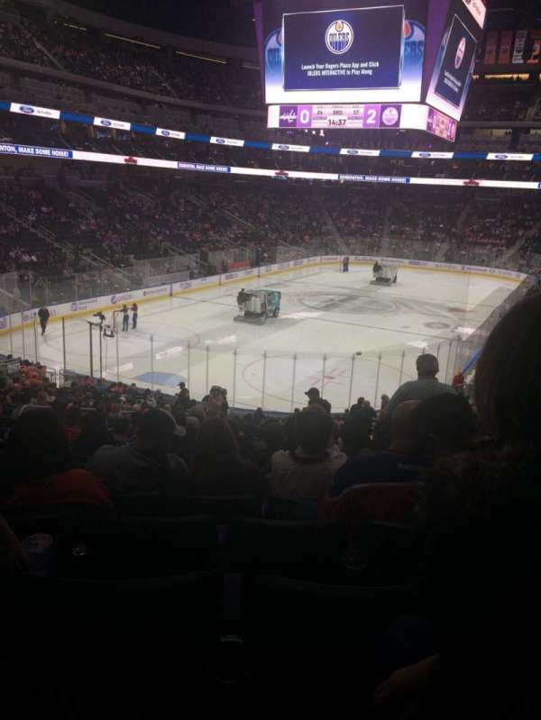 Rogers Place, section: 126, row: 26, seat: 15