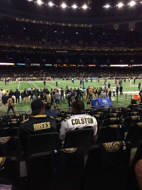 Caesars Superdome, section: 144, row: 10, seat: 23