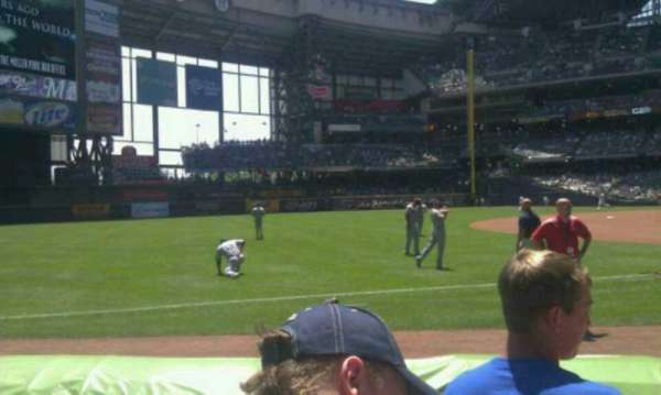 Miller Park, section: 126, row: 4, seat: 12