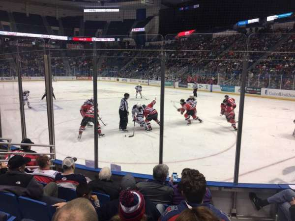 XL Center, section: 112, row: G, seat: 1