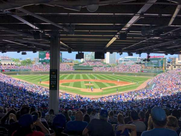 Wrigley Field, section: 217, row: 18, seat: 7