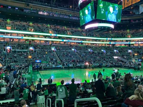 TD Garden, section: Loge 3, row: 14, seat: 1