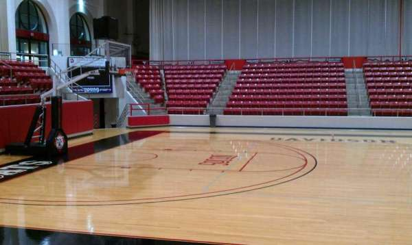 John M. Belk Arena, section: 9, row: D, seat: 3
