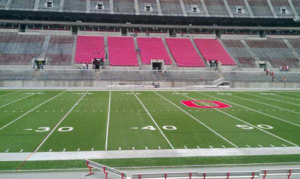 Ohio Stadium, section: 22A, row: 1, seat: 24