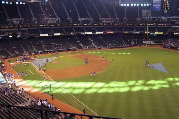 Chase Field, section: 301, row: 5, seat: 11