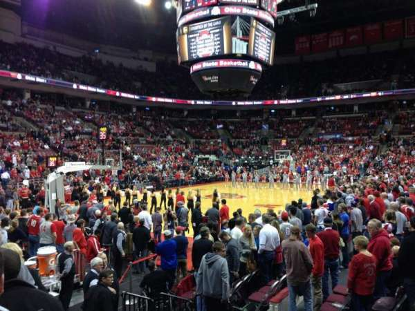 Value City Arena, section: 110, row: J, seat: 11
