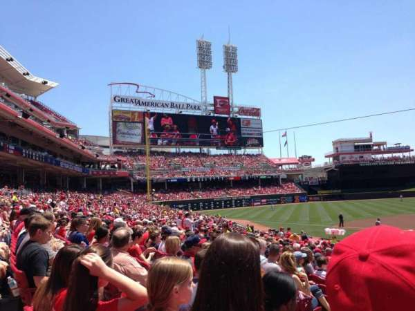 Great American Ball Park, section: 119, row: AA, seat: 8