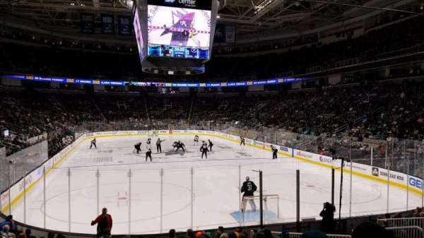 SAP Center, section: 124, row: 14, seat: 12