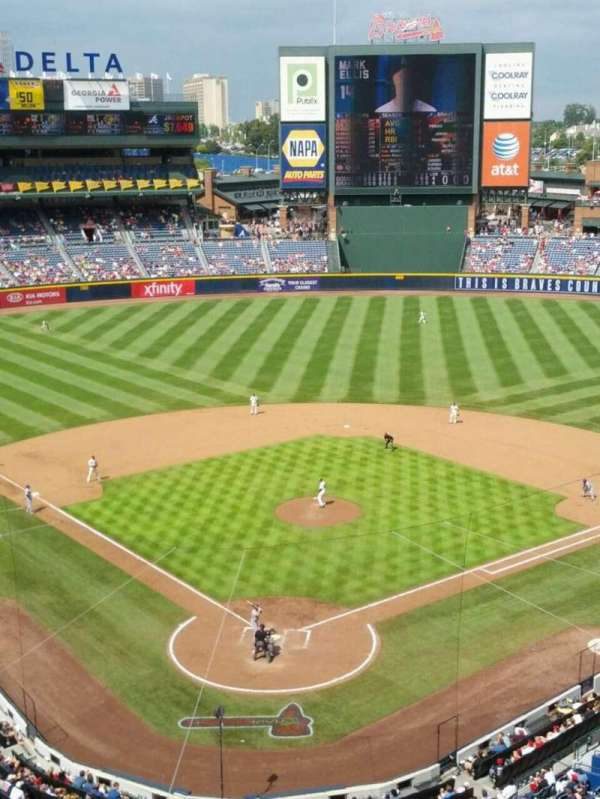 Turner Field, section: 401R, row: 1, seat: 1