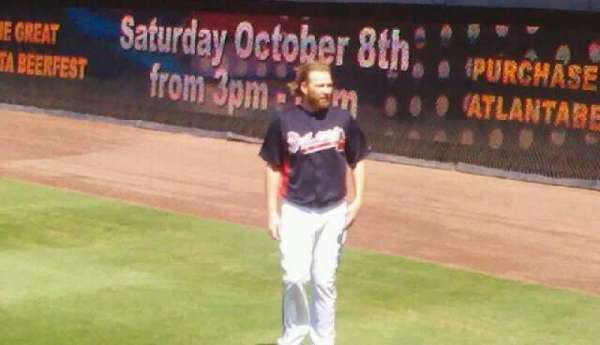 Turner Field, section: 123, row: 6, seat: 8