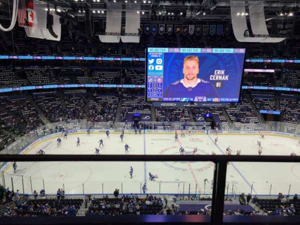 Amalie Arena, section: 317, row: A, seat: 6