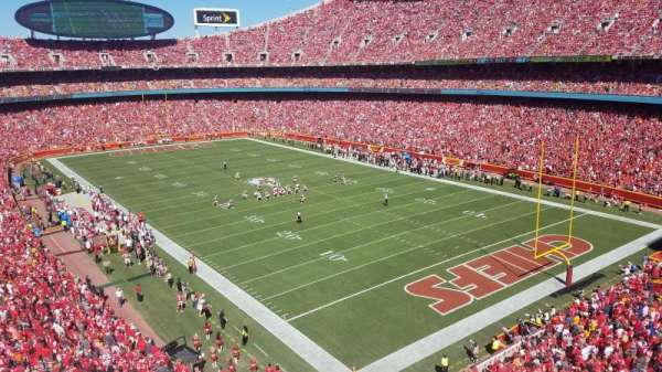 Arrowhead Stadium, section: 316, row: 1, seat: 20