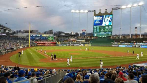 Kauffman Stadium, section: 130, row: U, seat: 1