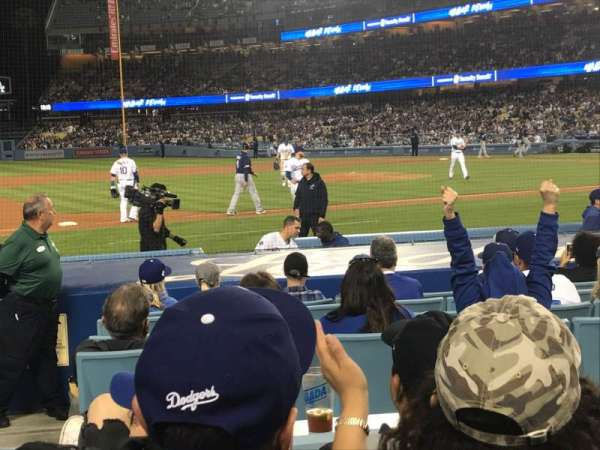 Dodger Stadium, section: 23FD, row: D, seat: 8