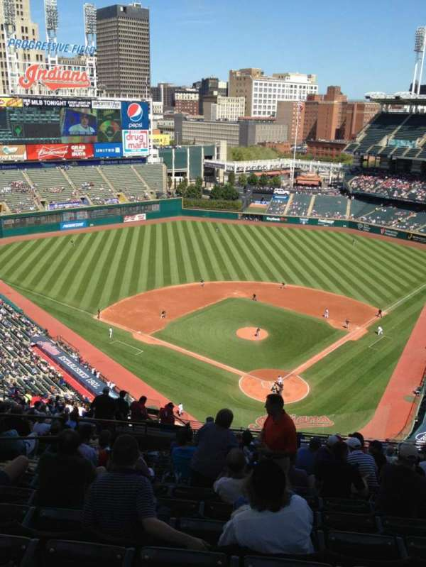 Progressive Field, section: 555, row: W, seat: 18