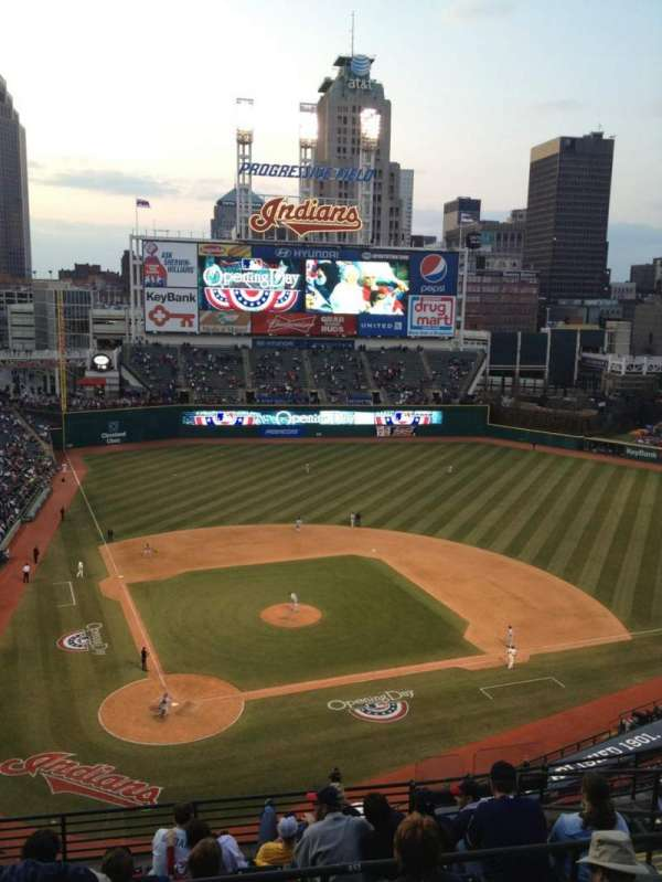 Progressive Field, section: 551, row: E, seat: 11