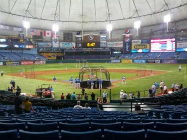 Tropicana Field, section: 101, row: dd, seat: 8